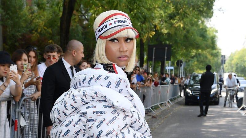 Nicki Minaj attends the Fendi show during Milan Fashion Week Spring/Summer 2019 on September 20, 2018, in Milan, Italy.