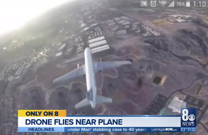 La Agencia Federal de Aviación estadounidense busca a la persona que hizo el vídeo de este avión con su dron