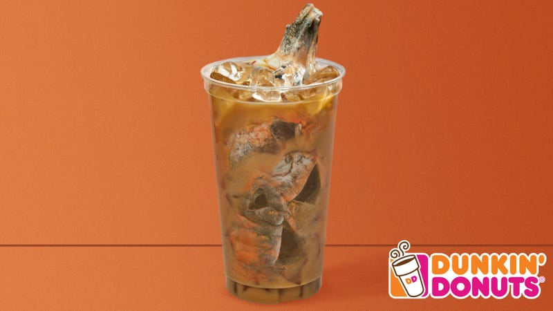 Illustration for article titled Dunkin' Donuts Unveils New Seasonal Rotting Jack-O'-Lantern Latte For End Of Fall