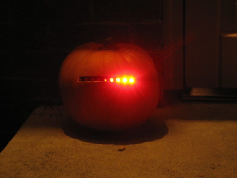 Illustration for article titled Create Your Own Cylon Pumpkin