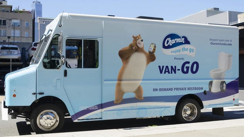 charmin tried to make me poop in a van. Black Bedroom Furniture Sets. Home Design Ideas