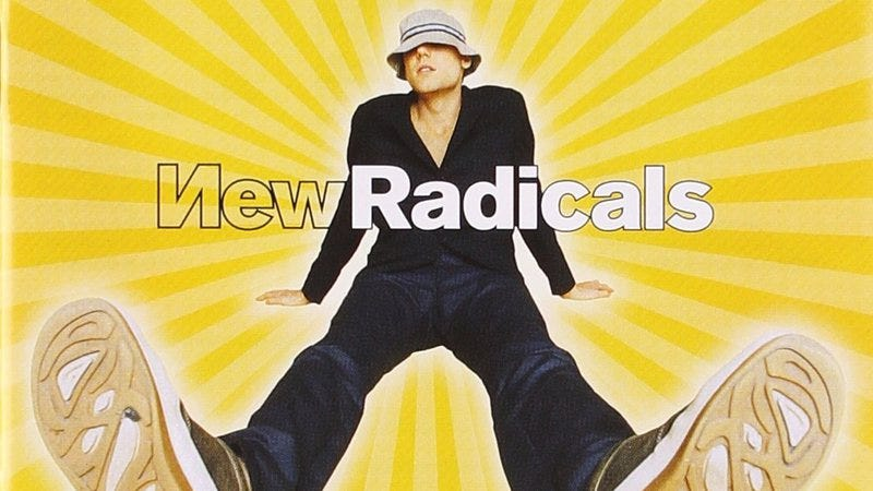 New Radicals Only Hit You Get What You Give Was Secretly