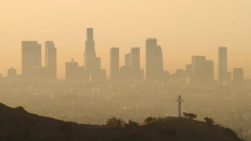 Look at that 2002 Los Angeles smog.