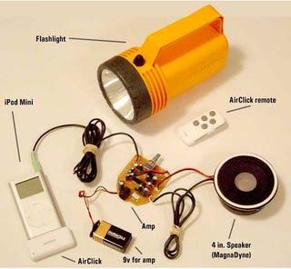 Illustration for article titled iPod Speaker Dock Flashlight Mod