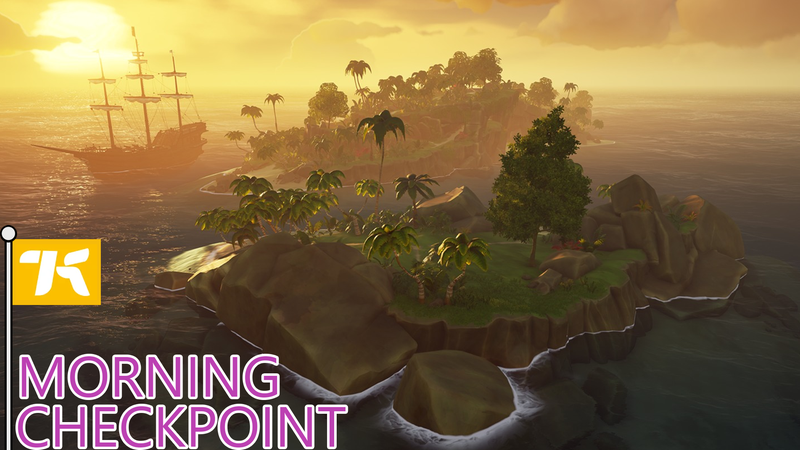 A Sea Of Thieves Player Is Hiding On An Island And Waiting For You