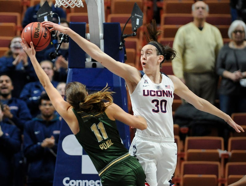 Breanna Stewart getting that weak shit out of here. Via AP.