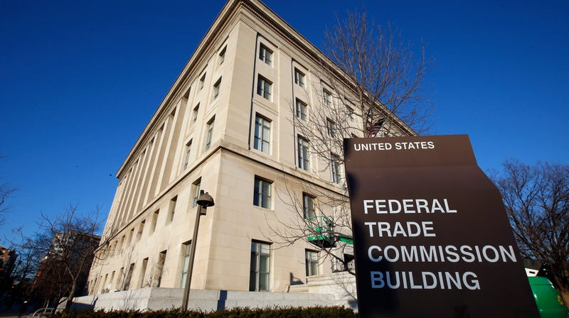 This Jan. 28, 2015 file photo shows the Federal Trade Commission (FTC) building in Washington.