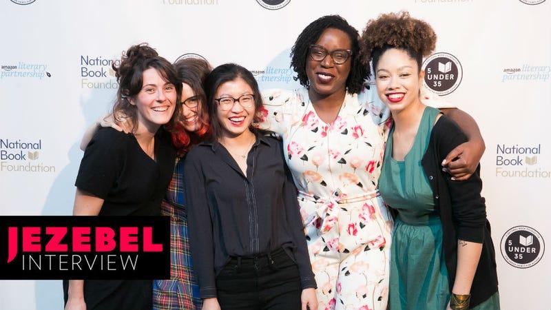 Halle Butler, Leopoldine Core, Weike Wang, Lesley Nneka Arimah, and Zinzi Clemmons. Image via Beowulf Sheehan.