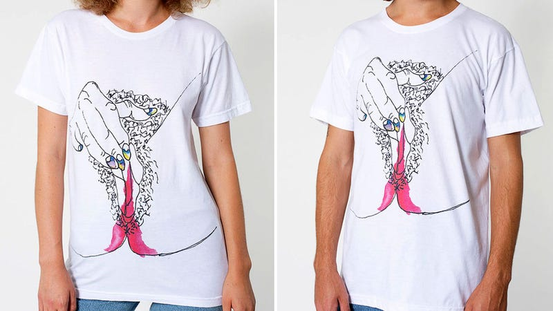 Illustration for article titled American Apparel Is Selling a Menstruating Vagina Shirt