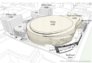 Illustration for article titled Hey, The Golden State Warriors' New Stadium Design Looks Like A Toilet