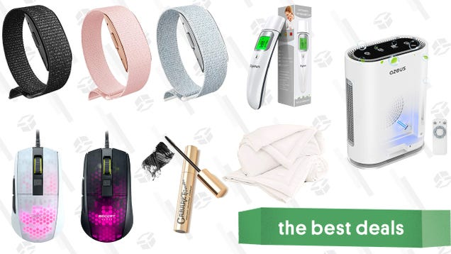 Sunday s Best Deals: Buffy Cloud Comforter, Amazon Halo Device, Infrared Thermometer, Lightweight Gaming Mouse, Air Purifier, French Mascara, and More