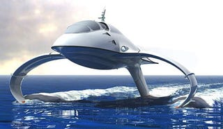 Illustration for article titled Uber Hydrofoil Design Concept Aims to Replace Business Jets