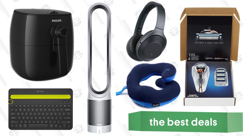 Illustration for article titled Sunday's Best Deals: Philips Airfryer, Noise-Cancelling Headphones, Gillette Razors, and More
