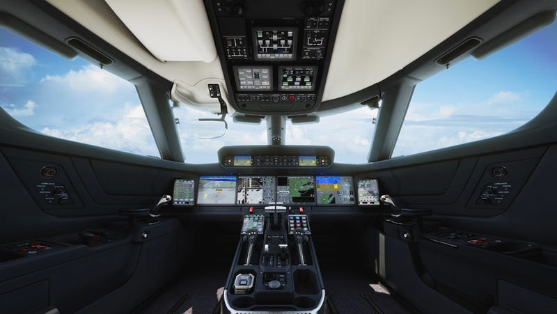 Illustration for article titled Gulfstream's Newest Jets Have An Amazing Touchscreen Cockpit