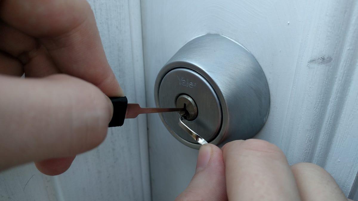 person locking door. Person Locking Door O