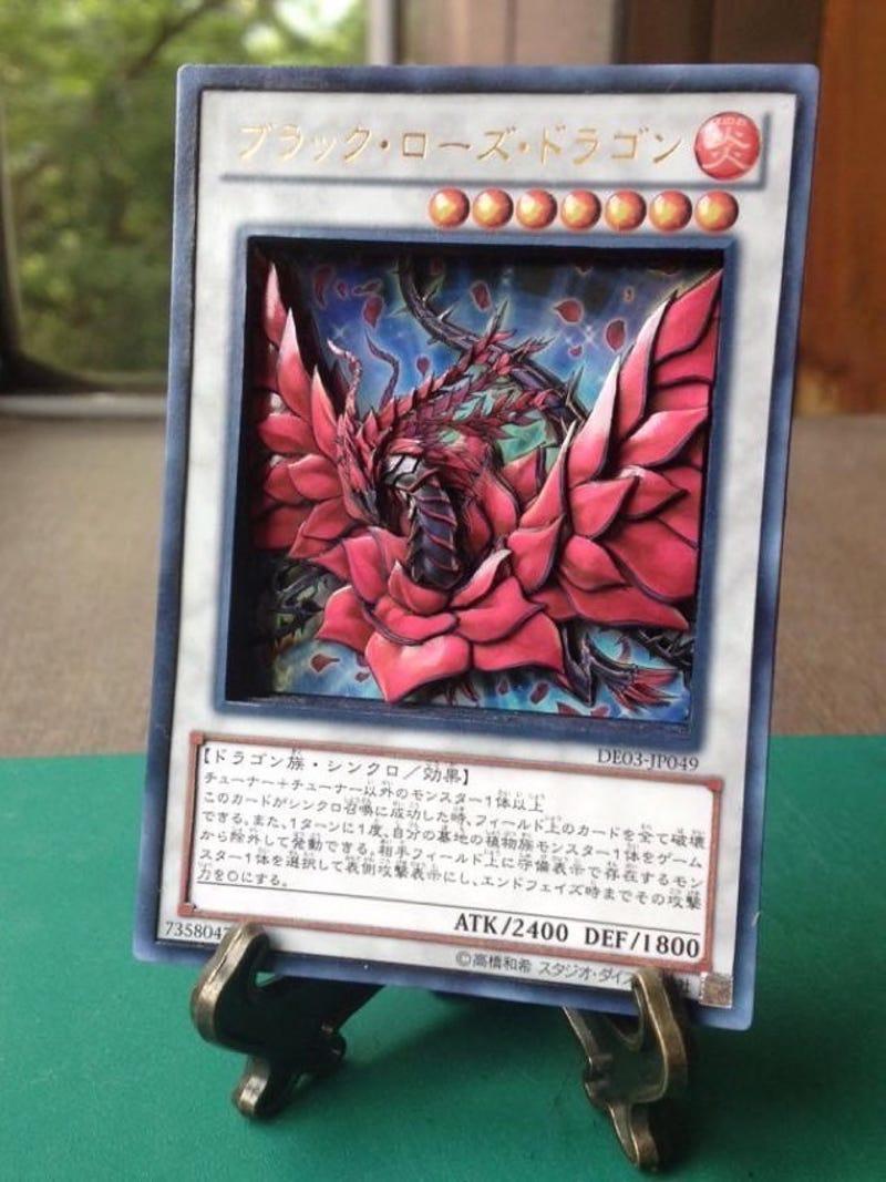 yu gi oh fan creates stunning shadowbox cards