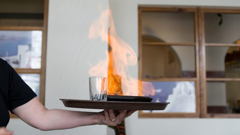 Illustration for article titled Delight turns to despair as flaming cheese sets off restaurant sprinklers