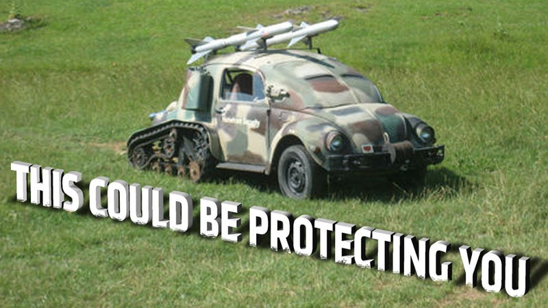 Illustration for article titled Someone Is Selling This Volkswagen Beetle Tank On eBay