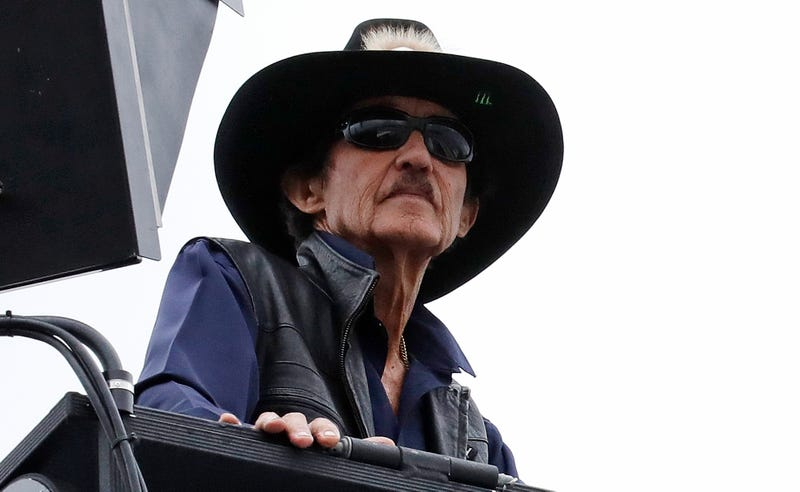 Richard Petty on Friday at New Hampshire Motor Speedway. Image: AP