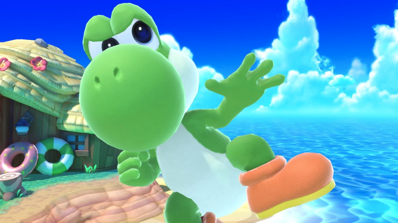 Illustration for article titled I Lost A Bet In Smash And Now I Have To Keep A Sexy Picture Of Yoshi On My Phone