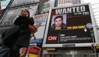 Illustration for article titled Times Square's Newest Video Billboard Stars FBI's Most Wanted