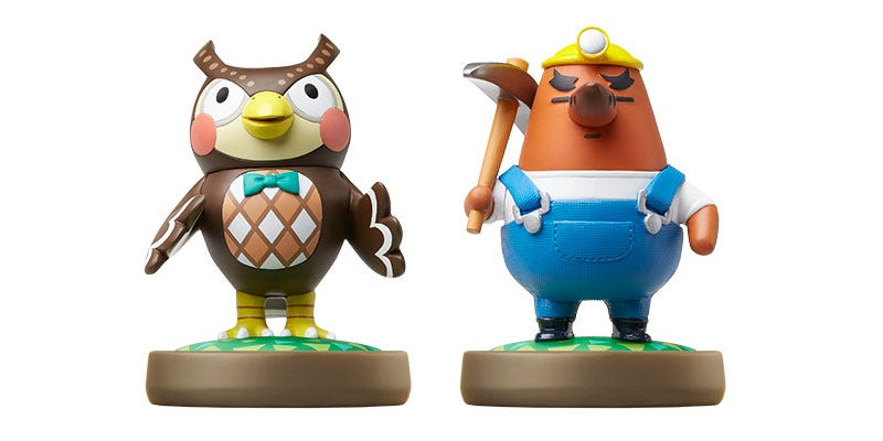 Illustration for article titled New Animal Crossing Amiibo: Blathers & Resetti