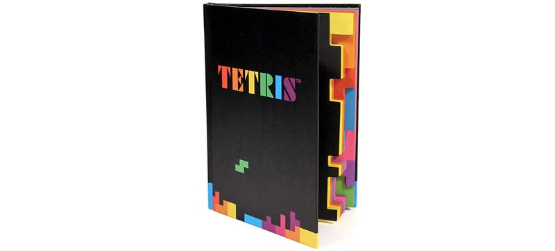 Illustration for article titled Swap Your Boring Moleskine For This Tetromino-Edged Tetris Notebook