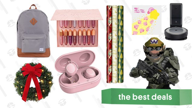 Monday s Best Deals: Roomba i3+, Hallmark Holiday Gift Wrap, Halo: The Master Chief Collection, Pre-Lit Wreaths, Ulta Lip Glossary Kit, Mpow Earbuds, and More
