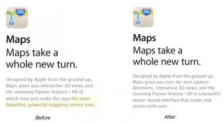 "Illustration for article titled Apple Stops Calling Its Maps ""The Most Powerful"""