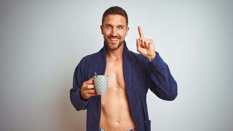 Just call this coffee shop with shirtless male baristas Magic Mocha, XXL
