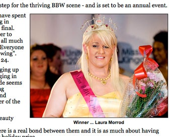 Illustration for article titled Britain's First Plus-Size Beauty Pageant: Celebration & Segregation