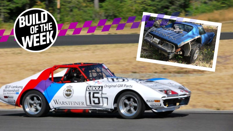 This Lifted Corvette Became A BMW-Powered Race Car For Way Cheaper