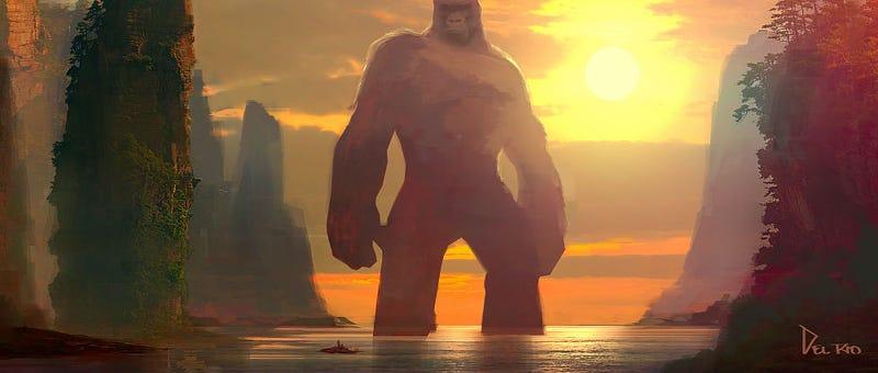 Concept art for Kong: Skull Island by artist Eddie Del Rio. All Images: Eddie Del Rio