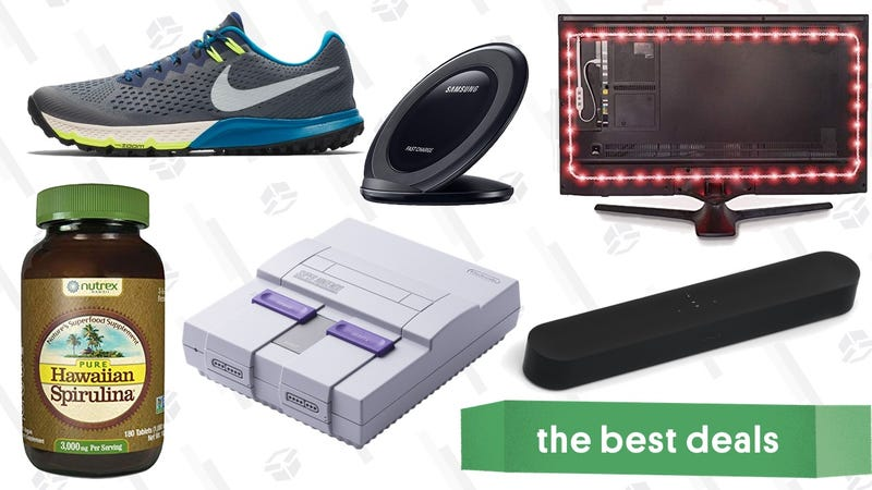 Illustration for article titled Saturday's Best Deals: Nintendo Classics, Sonos and Atmos Speakers, Nike Flash Sale, and More