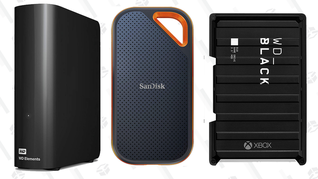 Give Yourself Some Space With This Big Sale on Hard Drives