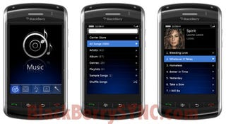 Illustration for article titled First Pics of Touchscreen BlackBerry Thunder in Action