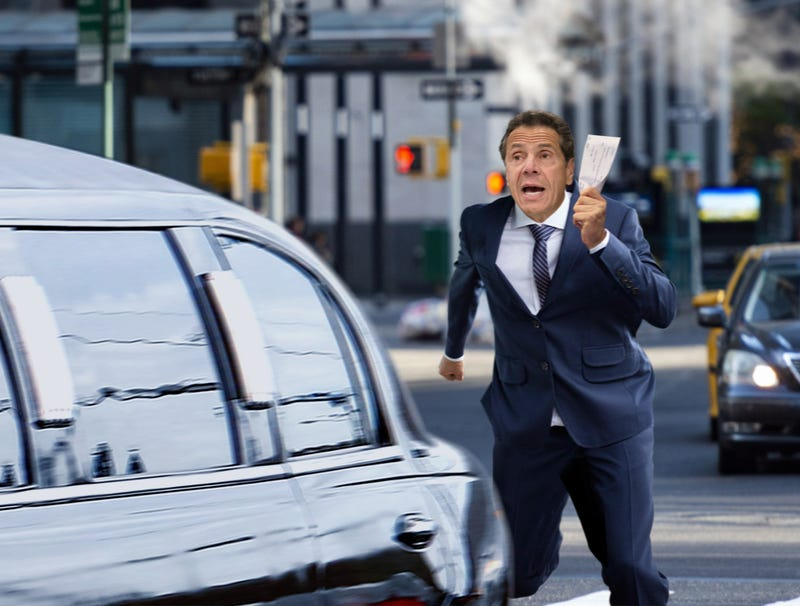 Illustration for article titled 'Wait, Mr. Bezos, You Forgot Your Tax Subsidy!' Says Andrew Cuomo Running Behind Limo