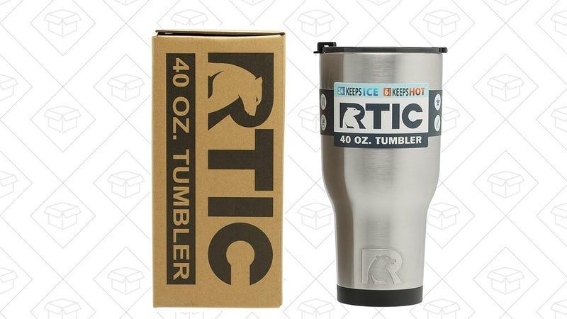 RTIC Double Wall Vacuum Insulated Tumbler, 40 oz | $8 | Amazon