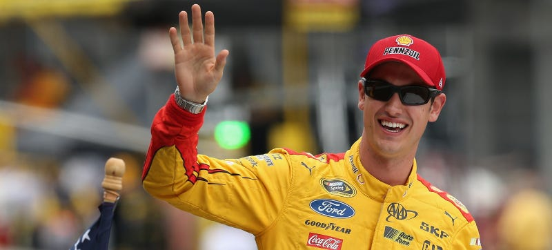 Illustration for article titled Logano Delivers A Real Life Ricky Bobbyism After Losing At Indianapolis