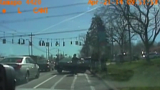Dashboard footage capturing Ramapo, N.Y., police stopping and holding four black parole officers in April 2014YouTube screenshot