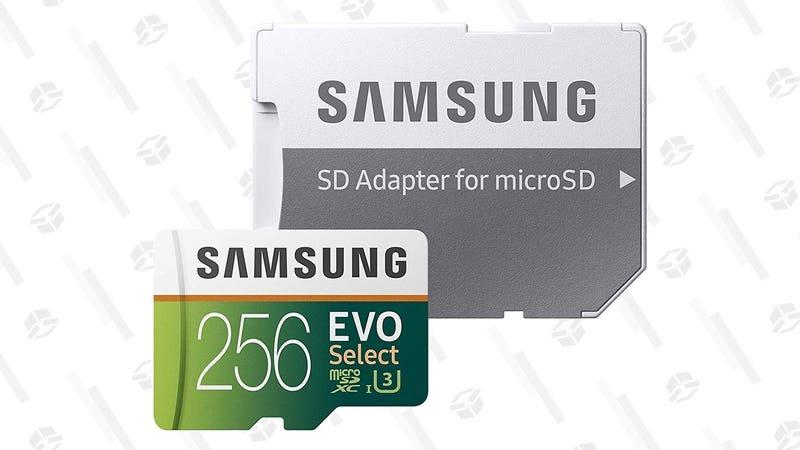 Samsung EVO Select 128GB MicroSD Card | $20 | AmazonSamsung EVO Select 256GB MicroSD Card | $40 | AmazonSamsung EVO Select 512GB MicroSD Card | $130 | Amazon