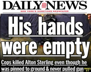Portion of New York Daily News cover imagePhoto illustration