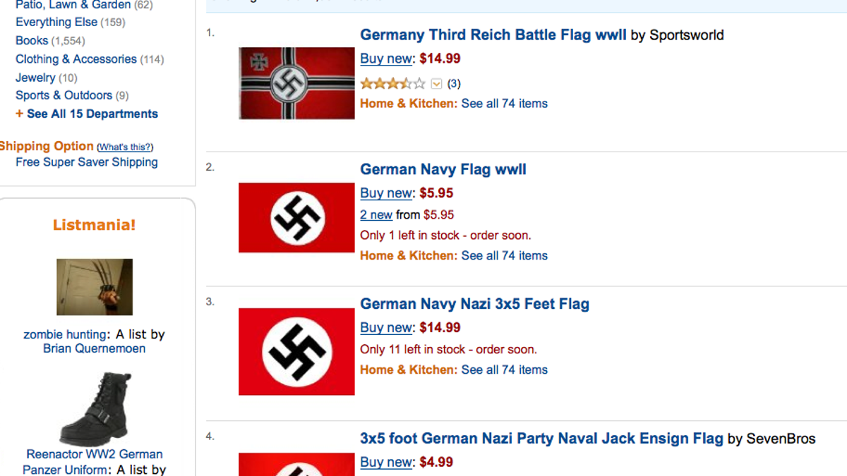 Would You Like Some Nazi Flags? Amazon Can Help You With That