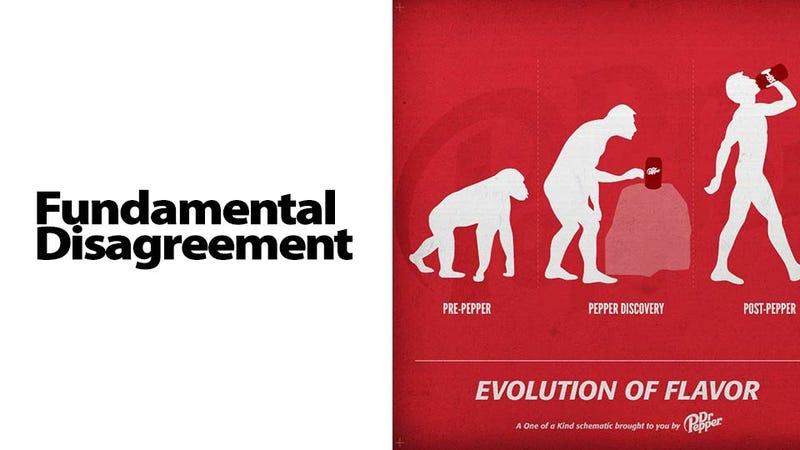 Illustration for article titled Dr. Pepper Facebook Ad Sparks the Most Surreal Creationist Debate You've Ever Seen