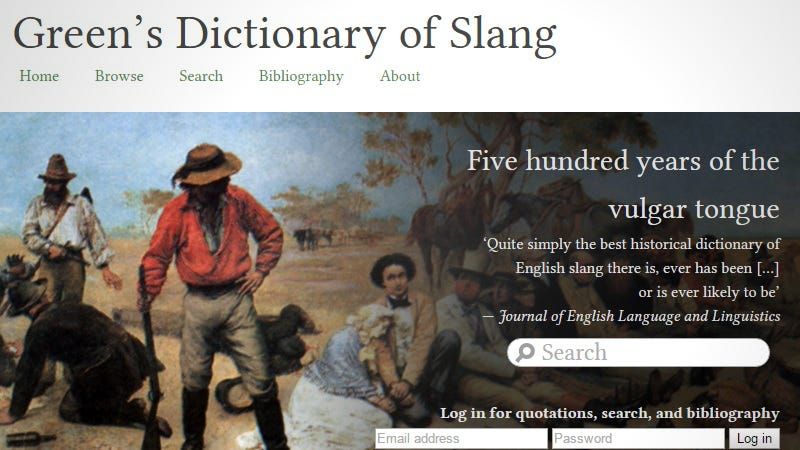 Illustration for article titled Explore Over 500 Years of English Slang With This Online Dictionary