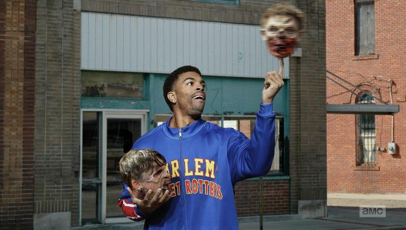 Illustration for article titled 'Walking Dead' Fans Split On Recent Harlem Globetrotters Crossover Episode