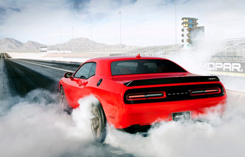 Two Dead After Dodge Hellcat Flies Over Ravine During Speed Test At