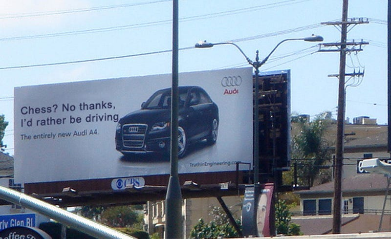 BMW Vs Audi Jalopnik Readers Turn Billboard Cold War Hot - What car is better audi or bmw