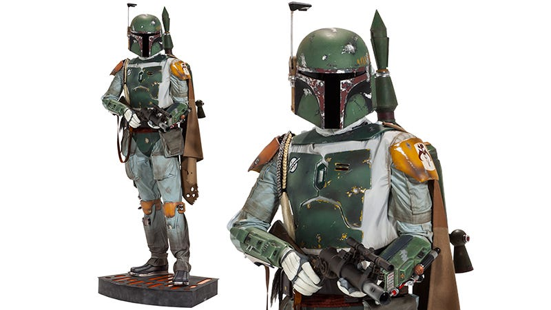 Illustration for article titled Your Star Wars Collection Isn't Complete Without a Life-Size $8,500 Boba Fett Figure