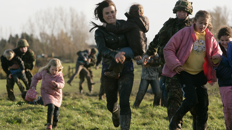 Gwen Cooper tries in vain to save some children from a dire fate in Torchwood: Children of Earth.